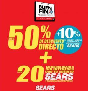 Ofertas Sears Buen Fin 2020: Hasta 50% de descuento + 10% adicional
