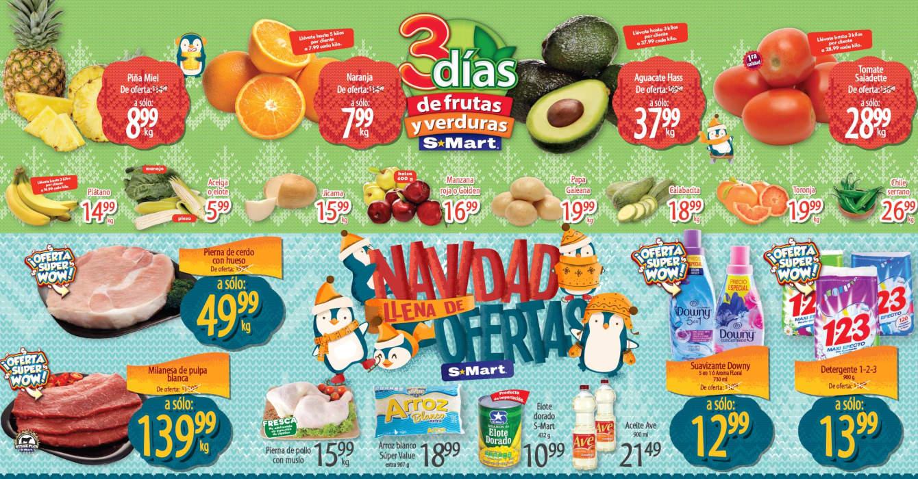 Folleto S-Mart frutas y verduras del 17 al 19 de noviembre 2020