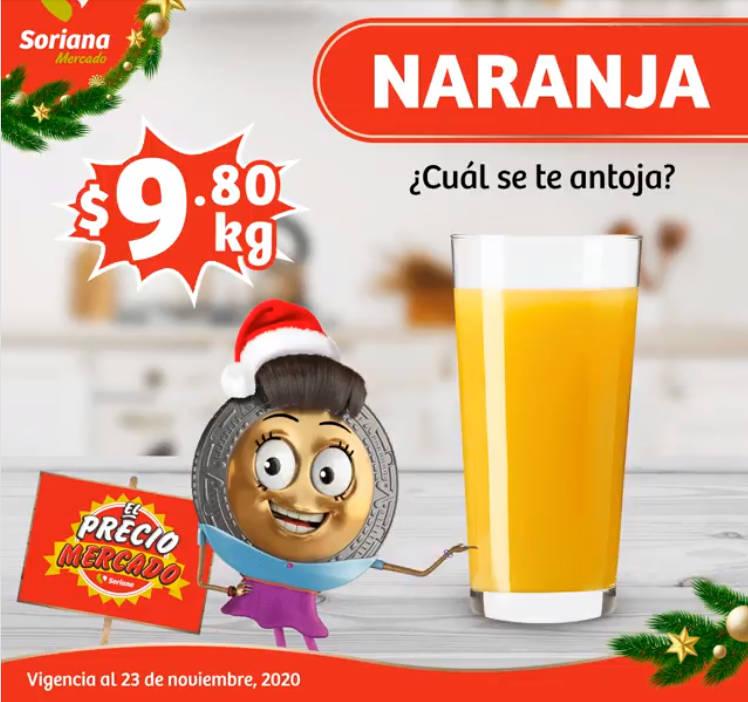 Folleto Soriana Mercado frutas y verduras del 24 al 26 de noviembre 2020