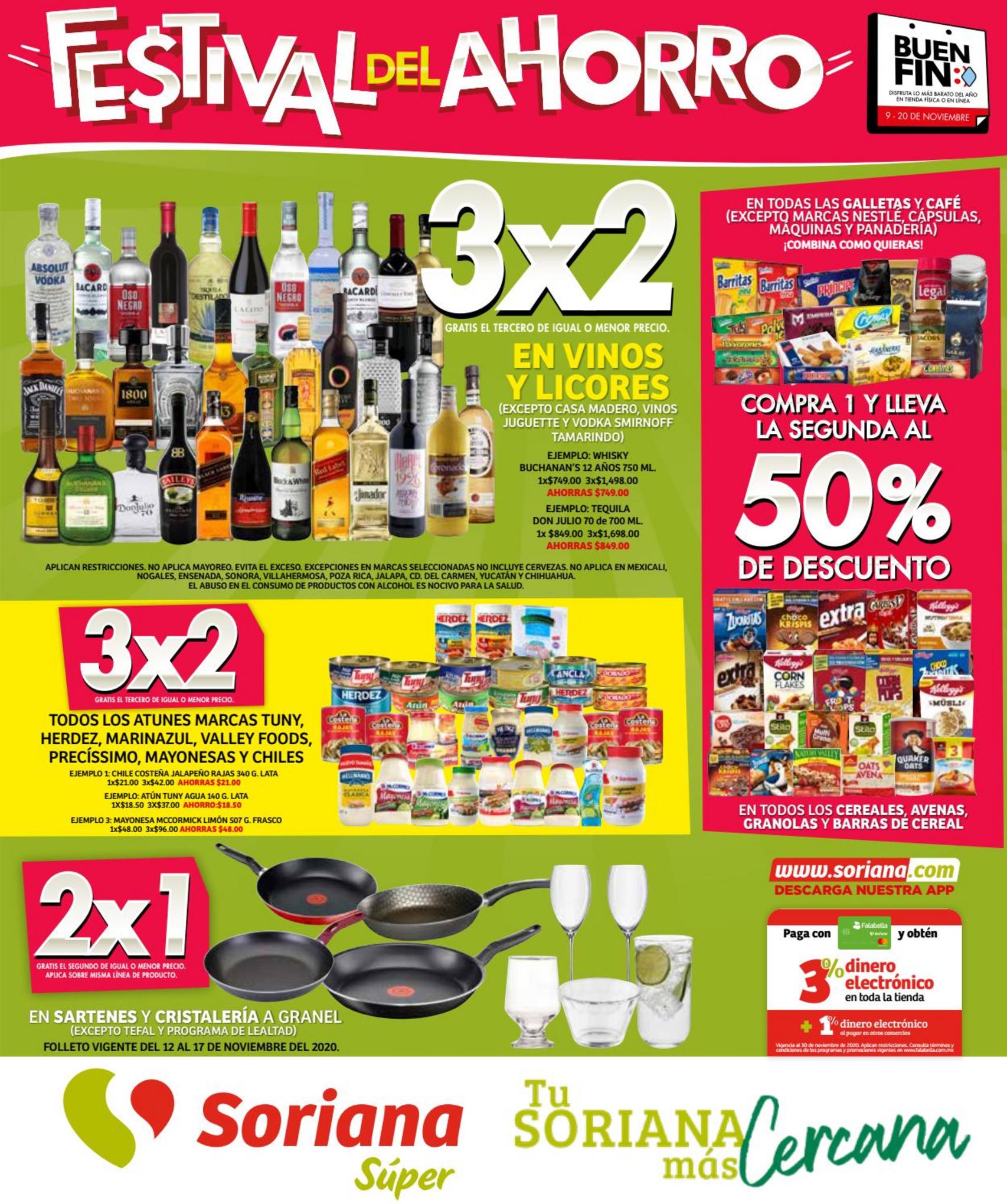 Folleto de ofertas Soriana Súper Buen Fin 2020 del 12 al 17 de noviembre