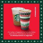 Starbucks: 2x1 en lattes y capuccinos del 23 al 26 de noviembre 2020