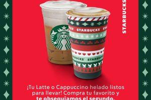 Starbucks: 2×1 en lattes y capuccinos del 23 al 26 de noviembre 2020