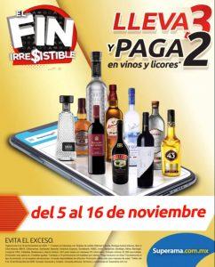 Superama Fin Irresistible 2020: 3×2 en vinos y licores