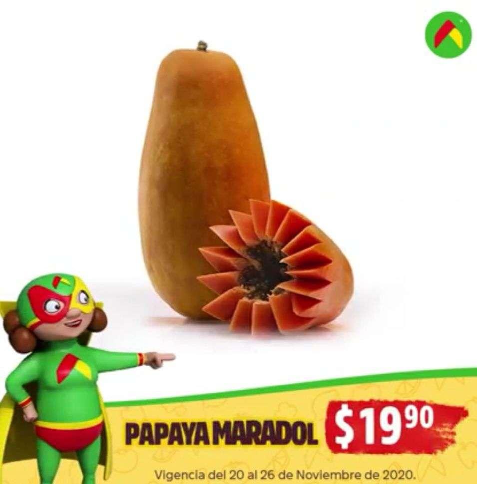 Folleto Tianguis Bodega Aurrerá frutas y verduras 23 al 26 de noviembre 2020