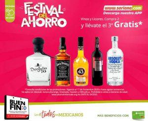 El Buen Fin 2020 Soriana: 3×2 en vinos y licores compras online