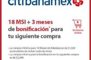 Walmart Fin Irresistible 2020: 3 meses de bonificación con CitiBanamex