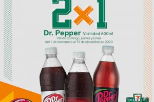 7-Eleven: 2x1 en Pan Dulce y Dr Pepper 600 ml