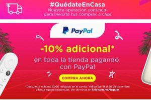 Linio: 10% de descuento adicional pagando con PayPal Navidad 2020
