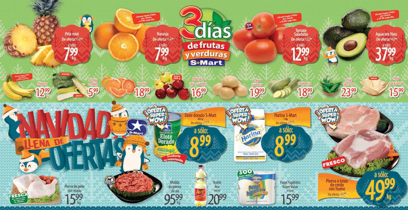 Folleto S-Mart frutas y verduras del 1 al 3 de diciembre 2020