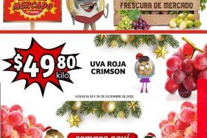 Folleto Soriana Mercado frutas y verduras 29 al 31 de diciembre 2020