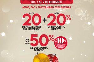 Venta Navideña Sears del 4 al 7 de diciembre de 2020