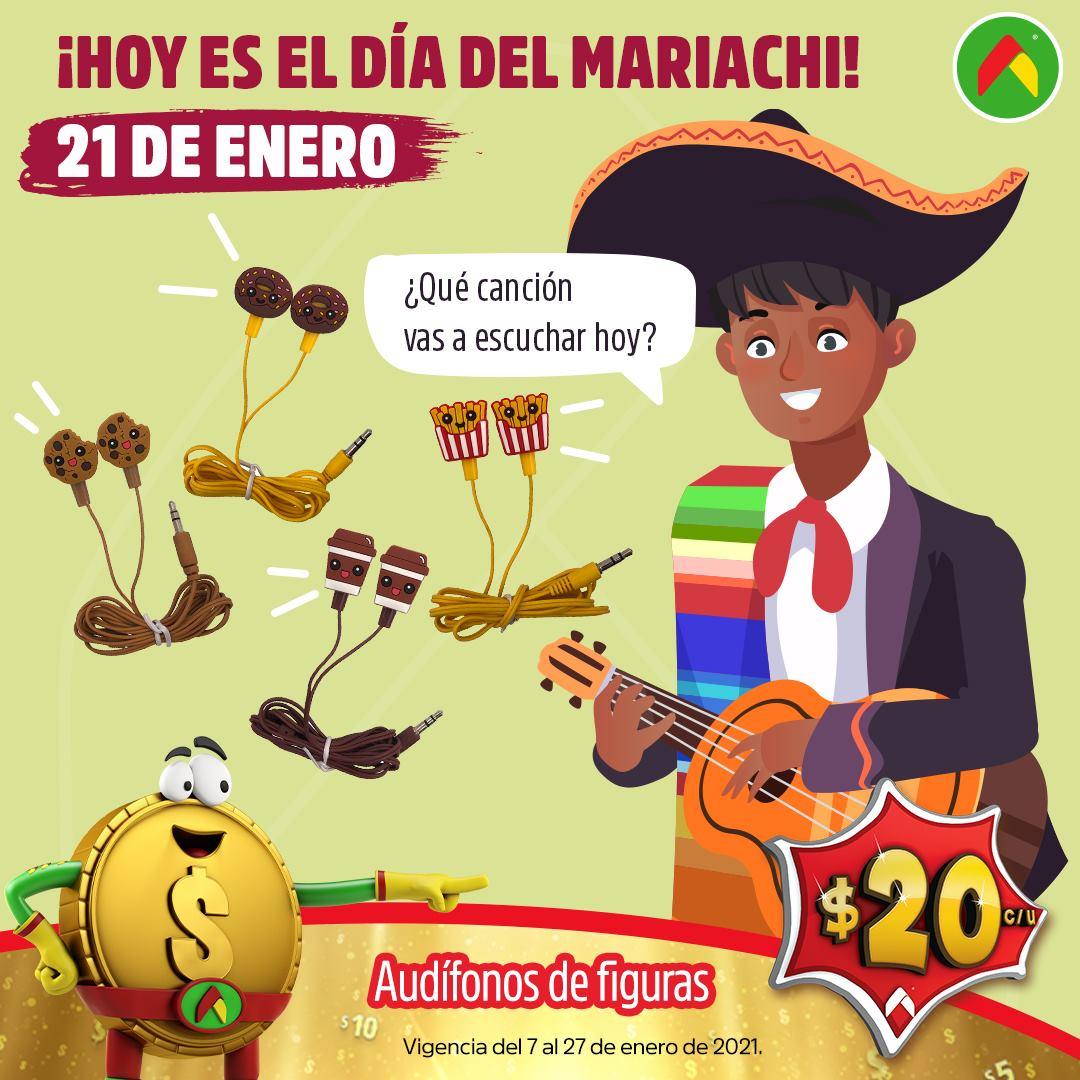 Bodega Aurrerá: Audífonos a $20 pesos Día del Mariachi 21 de Enero 2021