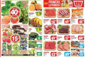 Folleto Casa Ley Frutas y verduras 12 y 13 de enero 2021