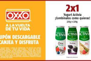 Oxxo: Cupón de 2×1 en yogurt Activia al 28 de Enero 2021