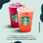 Starbucks 2X1 Shakens y Refreshers del 25 al 31 de enero 2021