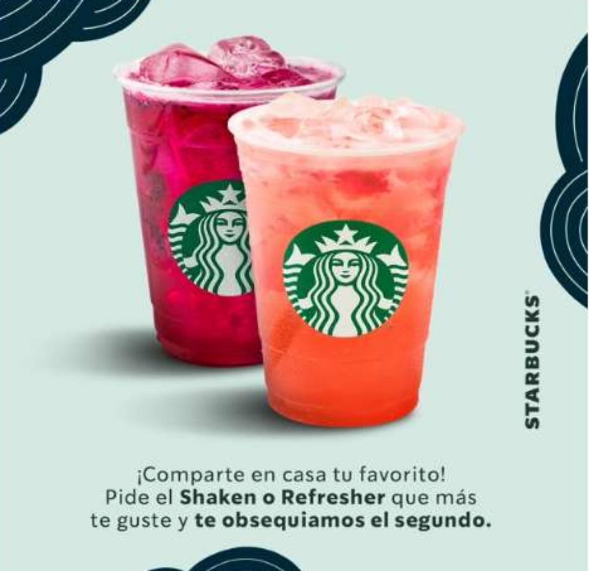 Starbucks: 2X1 Shakens y Refreshers del 25 al 31 de enero 2021