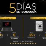 Palacio de Hierro: Ofertas 5 Días de Tecnología del 28 al 31 de enero 2021