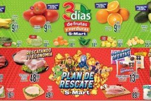 Folleto S-Mart 3 días de frutas y verduras del 19 al 21 de enero 2021