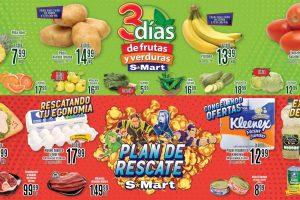 Folleto S-Mart frutas y verduras del 5 al 7 de enero 2021