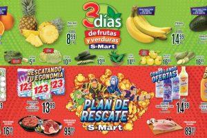 Folleto S-Mart frutas y verduras del 12 al 14 de enero 2021