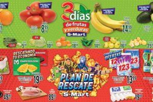Folleto S-Mart frutas y verduras del 26 al 28 de enero 2021