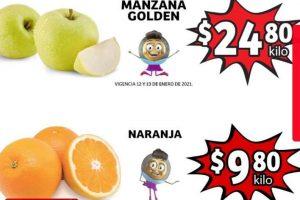 Folleto Soriana Mercado frutas y verduras 12 al 14 de enero 2021