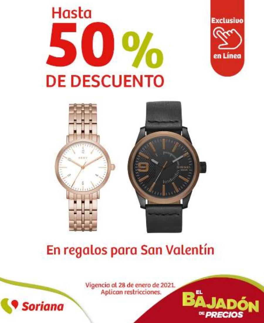 Soriana: Regalos de San Valentín 50% de descuento