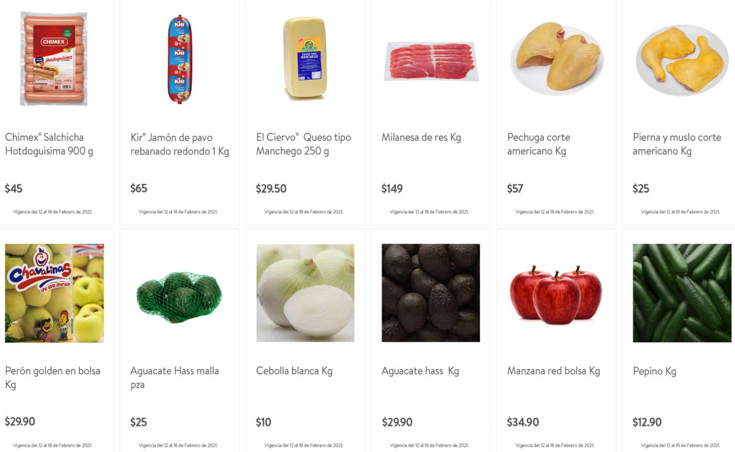Folleto Tianguis Bodega Aurrerá frutas y verduras 12 al 18 de febrero 2021