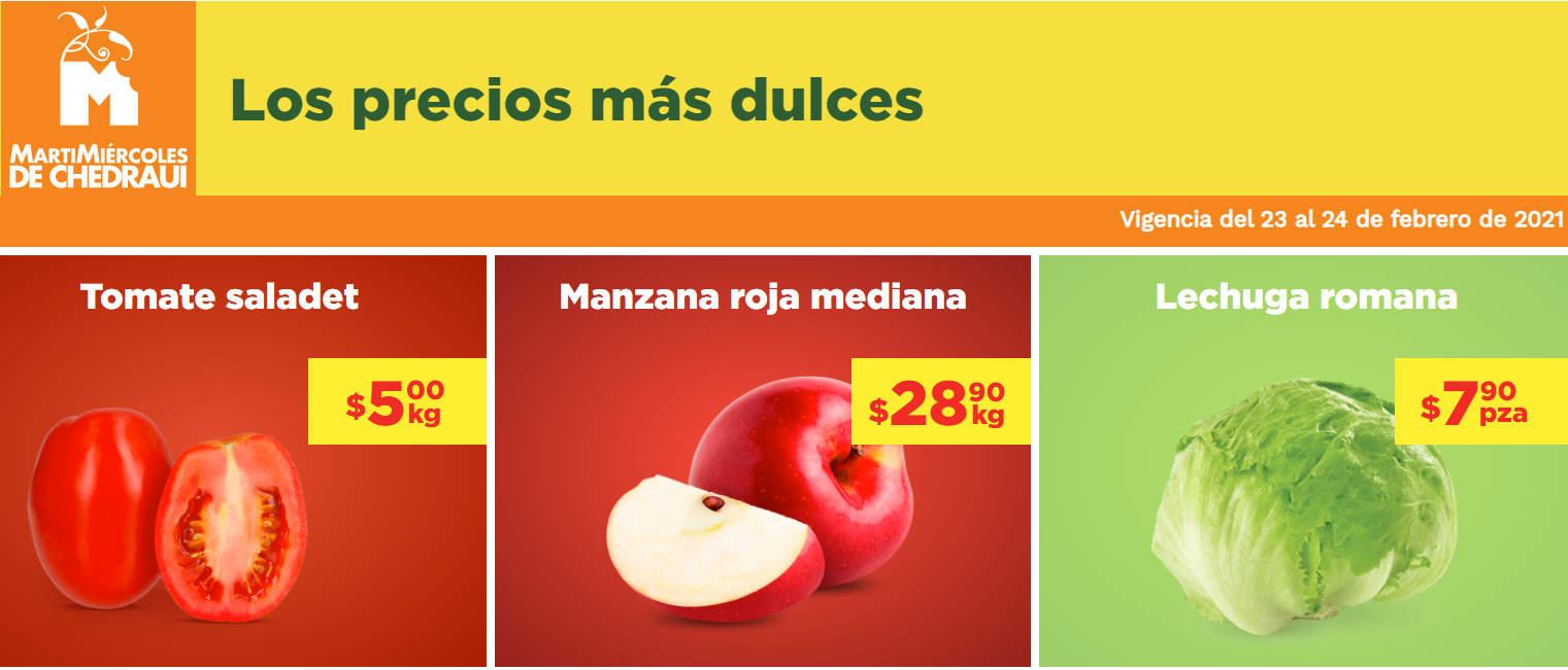 Frutas y Verduras Chedraui 23 y 24 de febrero 2021