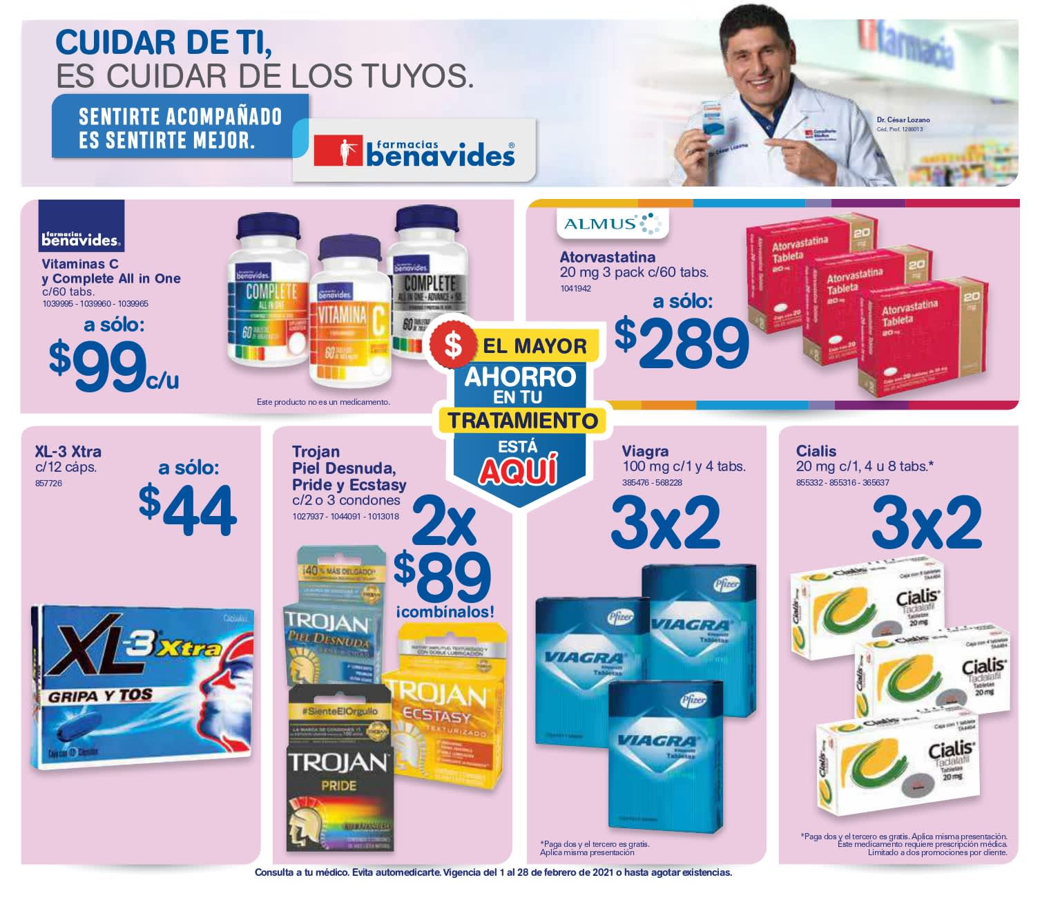 Farmacias Benavides: Folleto de ofertas febrero de 2021