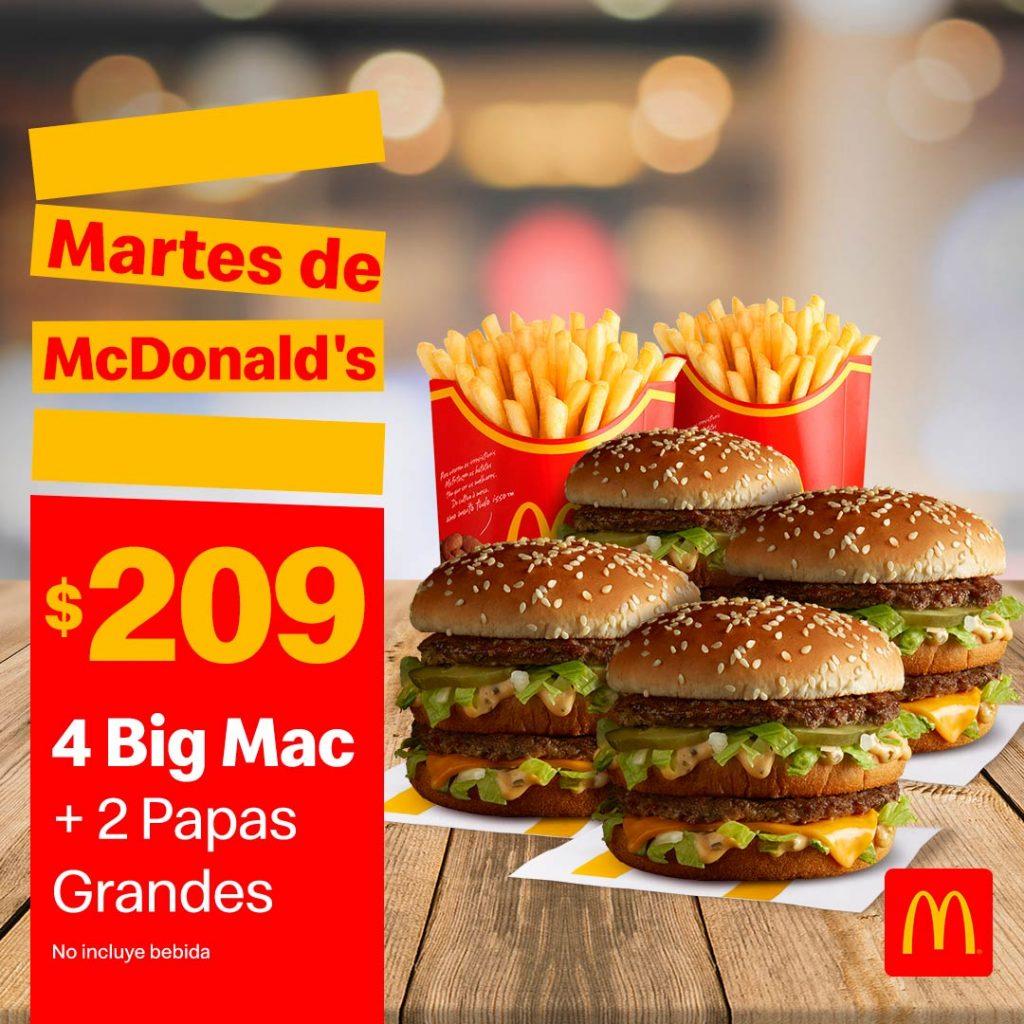 Cupones Martes de McDonalds 16 Febrero de 2021