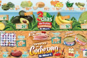 Folleto S-Mart frutas y verduras del 16 al 18 de febrero 2021