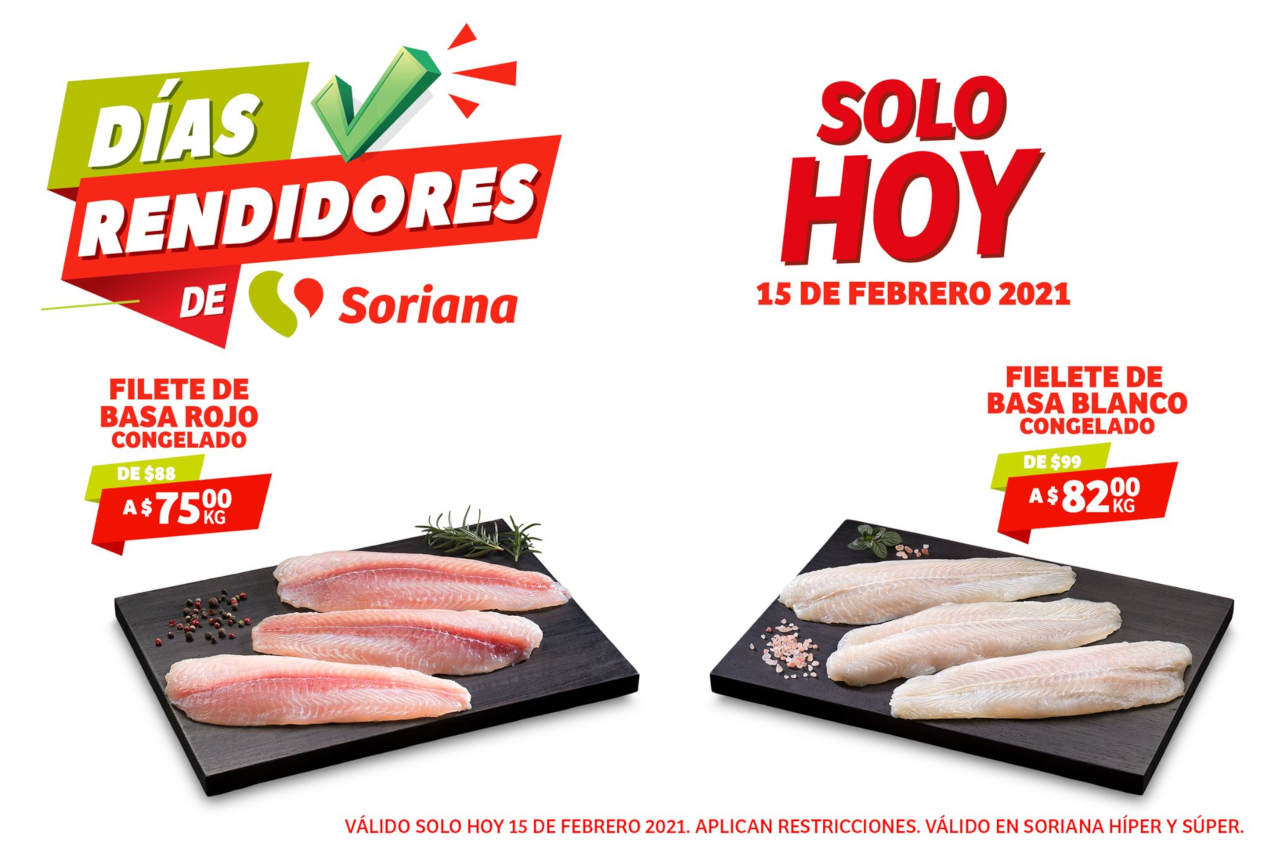 Ofertas Soriana Días Rendidores 15 de febrero de 2021