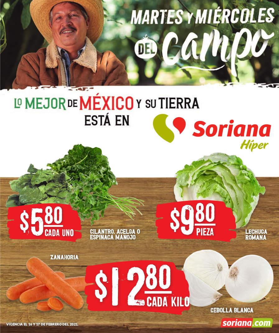 Folleto Soriana Martes y Miércoles del Campo 16 y 17 de febrero 2021