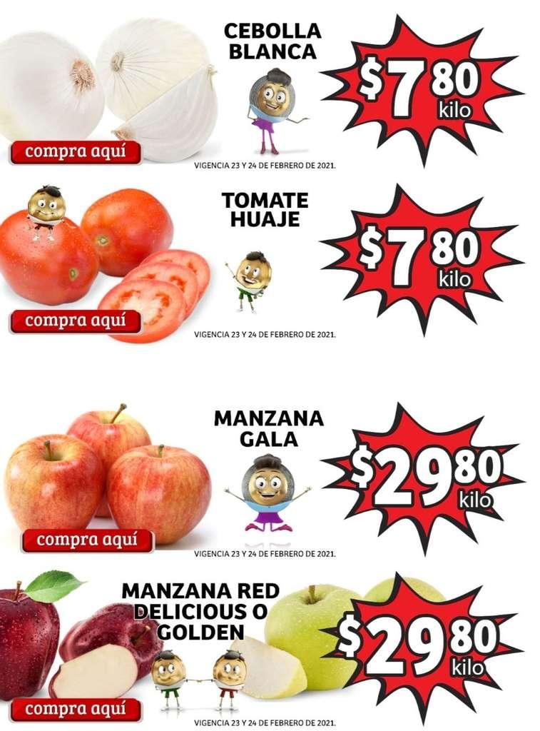 Folleto Soriana Mercado frutas y verduras 23 al 25 de febrero 2021