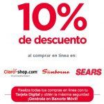 Banorte 10% de Bonificación en Sears, Sanborns y Claroshop
