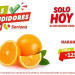 Folleto Soriana Días Rendidores 31 de marzo 2021