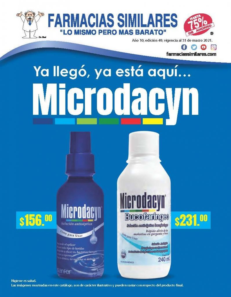 Folleto Farmacias Similares Ofertas al 31 de marzo de 2021