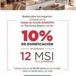 Banorte: 10% de bonificación y 12 meses sin intereses en Home Depot