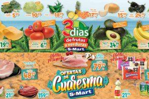 Folleto S-Mart frutas y verduras del 2 al 4 de marzo 2021
