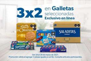 Promoción Sams Club: 3x2 en Galletas seleccionadas del 24 al 28 de marzo de 2021