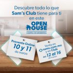 Open House Sam's Club del 12 al 16 de marzo 2021