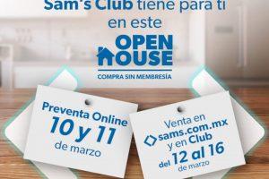 Open House Sam's Club del 12 al 16 de marzo 2021