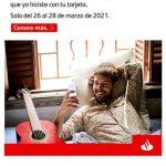 Recompensas Santander Puntos dobles del 26 al 28 de marzo 2021