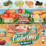 Folleto S-Mart frutas y verduras del 9 al 11 de marzo 2021