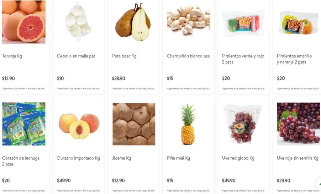 Folleto Tianguis Bodega Aurrerá frutas y verduras 1 al 4 de marzo 2021