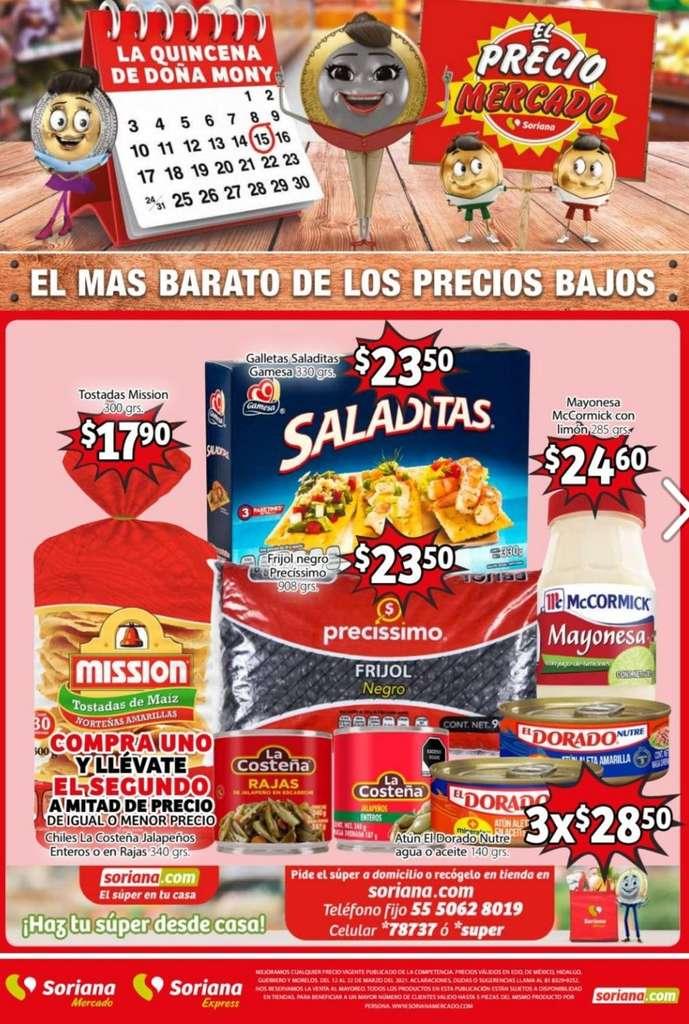 Folleto Soriana Mercado Ofertas del 12 al 22 de marzo 2021