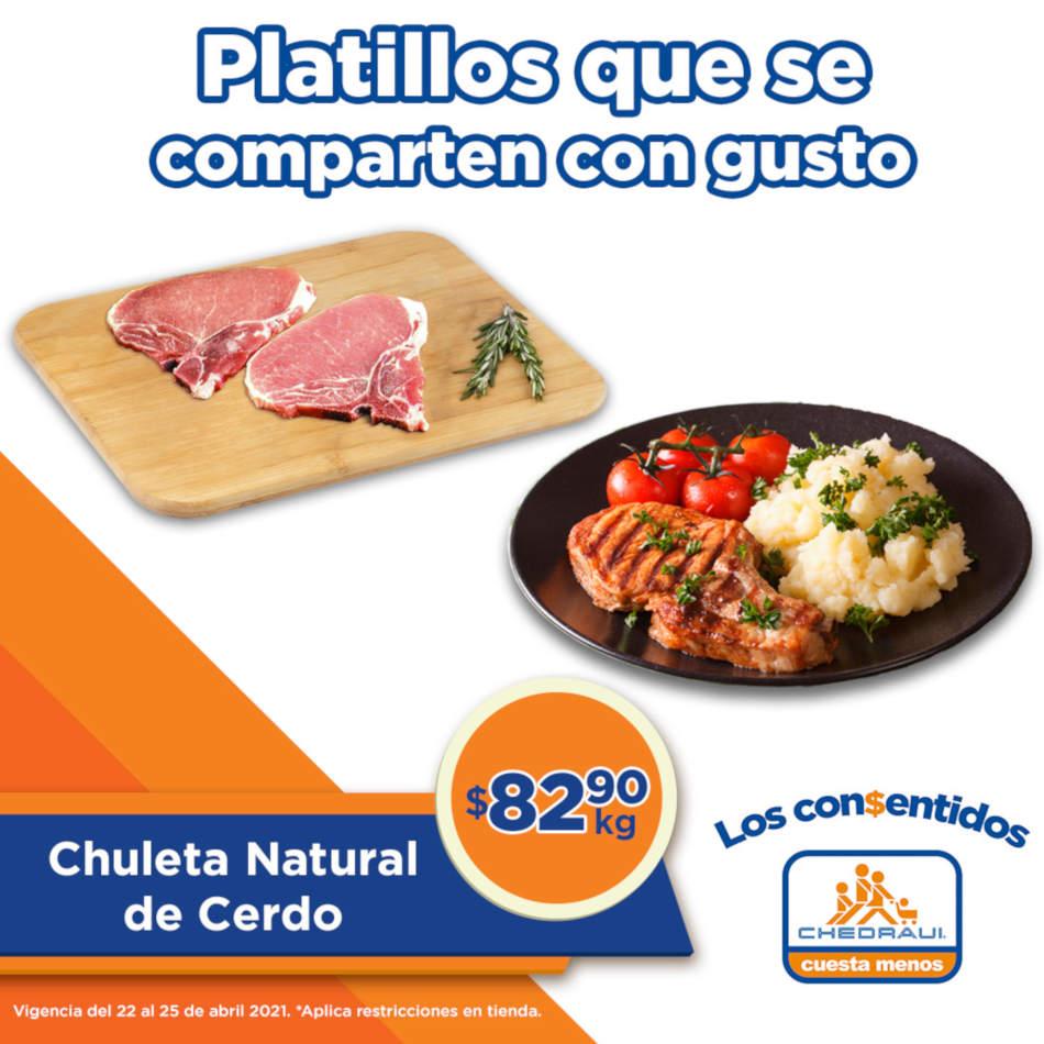Ofertas Chedraui Carnes Los Consentidos del 23 al 25 de abril 2021