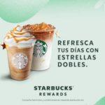 Starbucks: Estrellas dobles + bebida preparada al comprar un Frappuccino