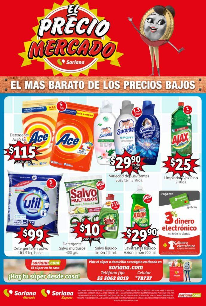 Folleto de ofertas Soriana Mercado 9 al 22 de abril 2021